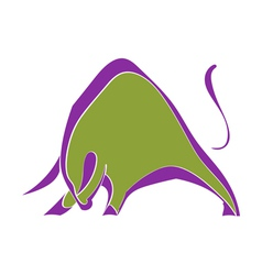 Symbol strong wild bull vector image