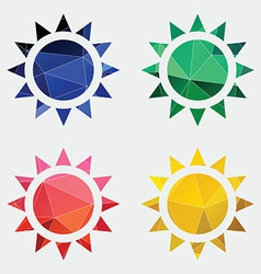 Sun icon abstract triangle vector
