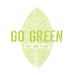 Go green symbol vector