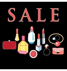 Sale of cosmetics vector