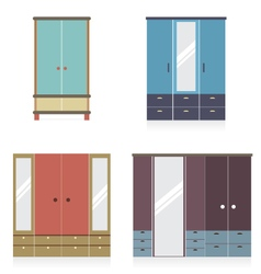 Modern wardrobe set vector