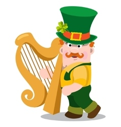 The man with the golden harp st patrick s day vector