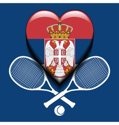 Serbian tennis vector