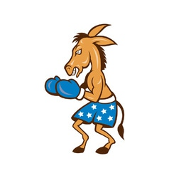 Donkey jackass boxing stance vector