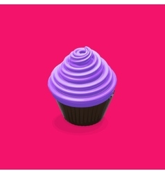 Food of cupcake vector