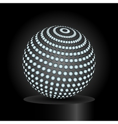 Abstract light sphere vector