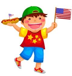 american boy vector image