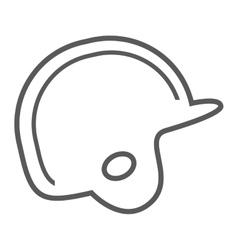 baseball helmet protection equipment icon vector image vector image