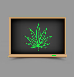 blackboard hemp drug lesson vector image vector image