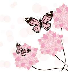 Butterflies card vector