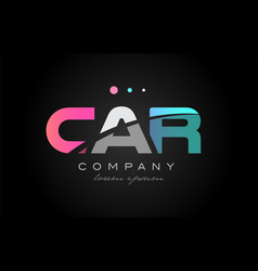 car c a r three letter logo icon design vector image