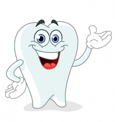 Cartoon tooth vector