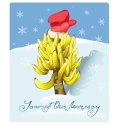 Christmas tree made of bananas vector