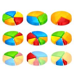 circular pie diagrams vector image