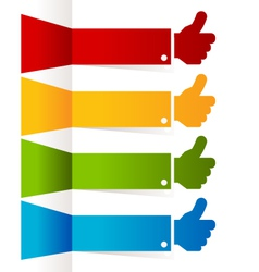 Colorful Thumbs Up Banners vector image vector image