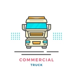 Commercial truck concept vector image vector image