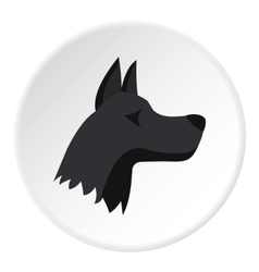 Doberman dog icon flat style vector