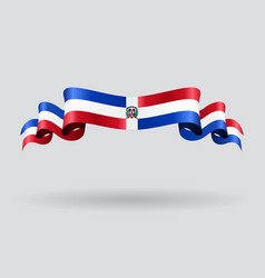 Dominican republic wavy flag vector