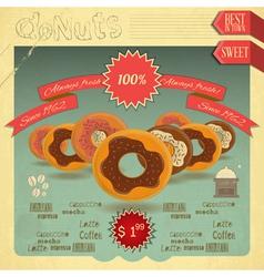 Donuts Menu vector image