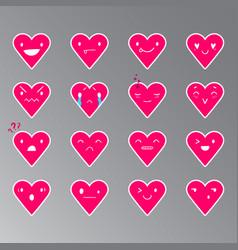 Emoticons heart color 19 vector
