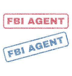 Fbi agent textile stamps vector