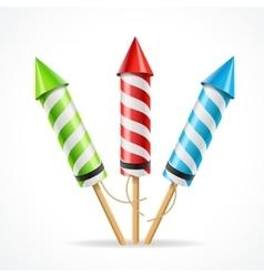 Fireworks rocket set vector