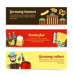 Germany travel banner set vector