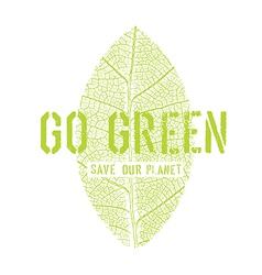 Go green symbol vector