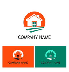 home realty company logo vector image vector image