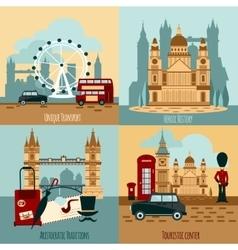 London Touristic Set vector image
