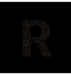 Magic R letter vector image vector image