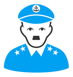 Military captain flat icon vector