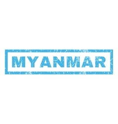 Myanmar rubber stamp vector