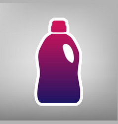 Plastic bottle for cleaning purple vector