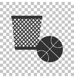 Trash sign Dark gray icon on vector image vector image