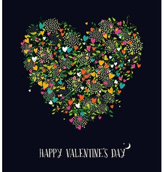 Valentines day love heart shape nature color vector