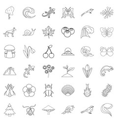 Way of life icons set outline style vector