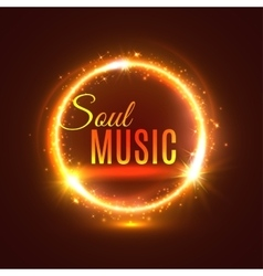 Soul music poster with light shine vector