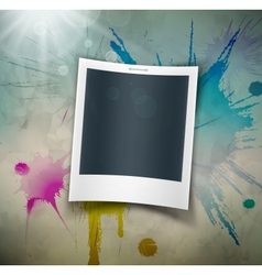 Photo on grunge background vector