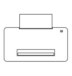 Printer the black color icon vector