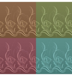 set of vector floral patterns vector image
