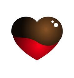 Love Heart Melt Chocolate vector image