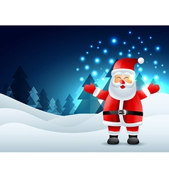Laughing santa claus vector