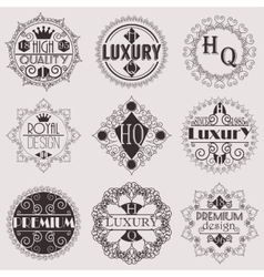 Retro design luxury insignias logotypes template vector