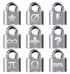secure math symbols vector image