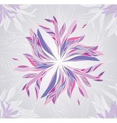 Multicolored flower vector