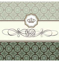 baroque card vector image