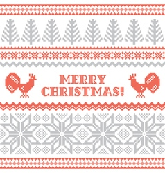 Christmas and new year knitted background vector