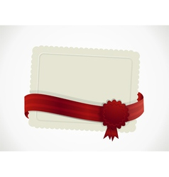 gift card and ribbon vector image vector image