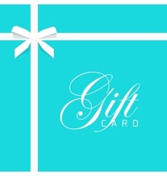 Gift card on blue bow with vector image